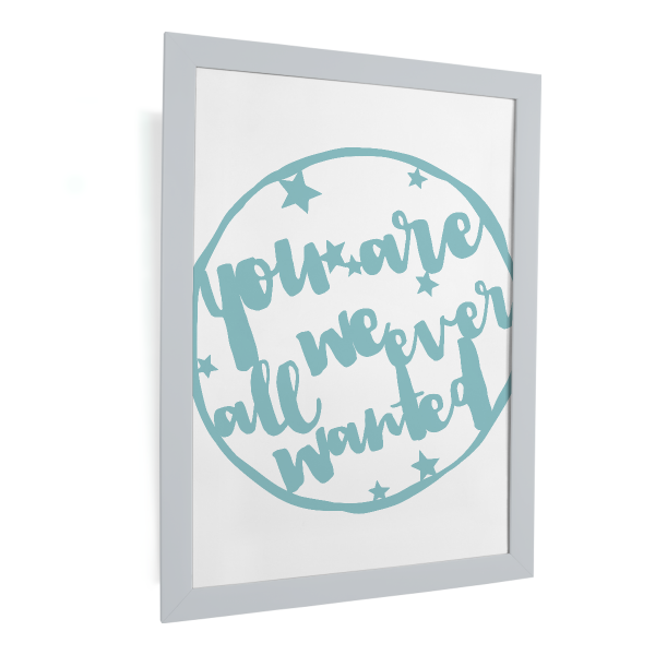 happy serendipity design, plotterdatei, svg file, you are all we ever wanter, kinderzimmer, kinder, baby